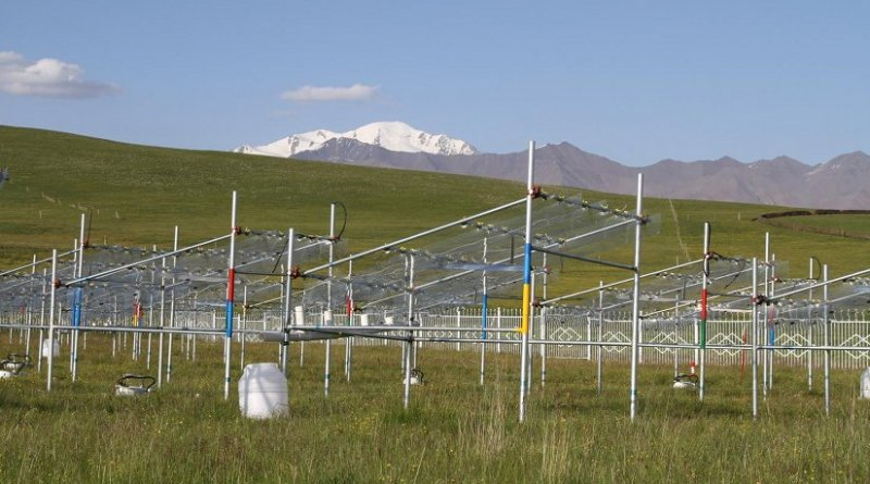 Researchers studied the effects of rising temperatures and varying rainfall on Tibetan Plateau grasslands at this experimental site at the Haibei Alpine Grassland Ecosystem Research Station of the Chinese Academy of Sciences. Credit Credit: Xian Yang and Qianna Xu