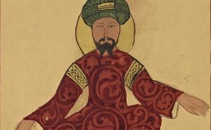 A possible portrait of Saladin, found in a work by Ismail al-Jazari, circa 1185