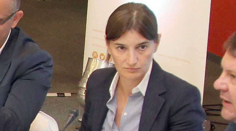 Serbia's Ana Brnabic. Photo Credit: mediaportal.vojvodina.gov.rs, Wikipedia Commons.