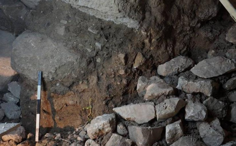 Recently uncovered remains of a massive stone tower built to guard Gihon Spring -- a vital water supply just downhill from the ancient city of Jerusalem. Credit Weizmann Institute of Science