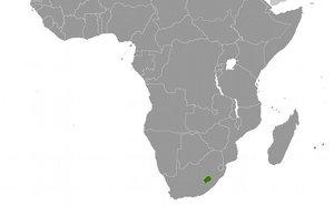 Location of Lesotho. Source: CIA World Factbook