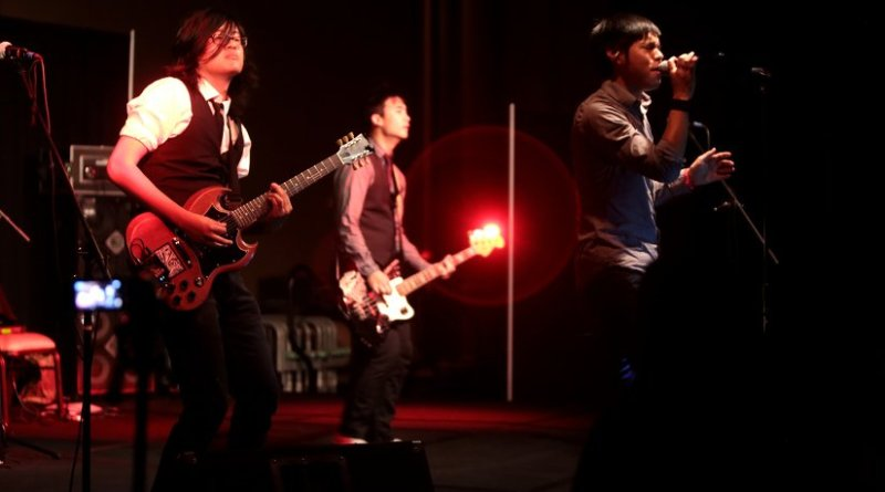 Music group 'The Slants'. Photo by Gage Skidmore, Wikipedia Commons.