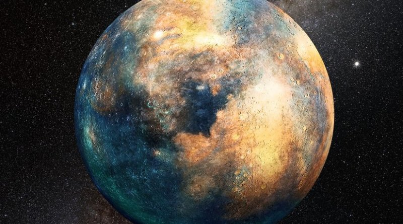 A planetary mass object the size of Mars would be sufficient to produce the observed perturbations in the distant Kuiper Belt. Credit Heather Roper/LPL