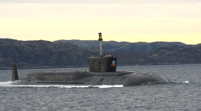 File photo of Russia's strategic missile submarine Yuri Dolgoruky. Photo Credit: Russian Military, Mil.ru