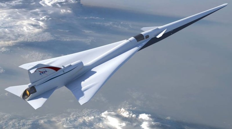 Illustration of NASA's planned Low Boom Flight Demonstration aircraft as outlined during the project's Preliminary Design Review. Credits: NASA / Lockheed Martin