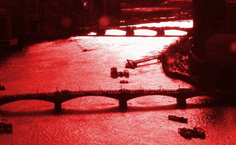 Bridges in London, United Kingdom.