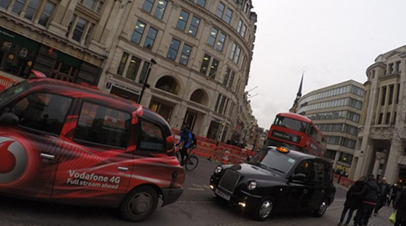 traffic taxis London United Kingdom