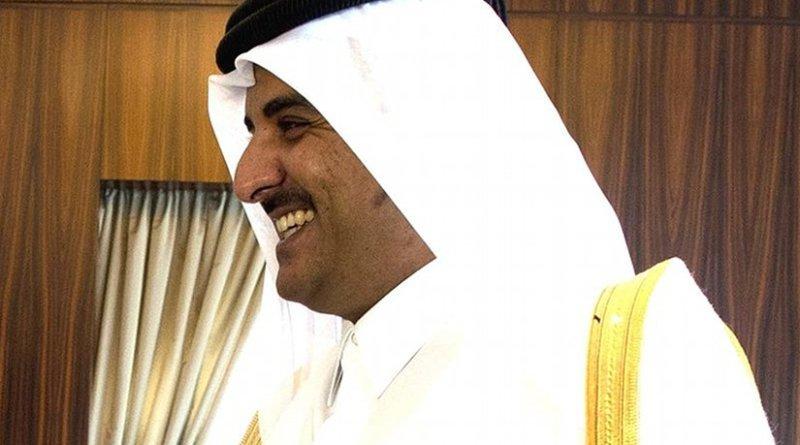 Qatar's Sheikh Tamim bin Hamad Al Thani. Photo by Chuck Hagel, Wikimedia Commons.