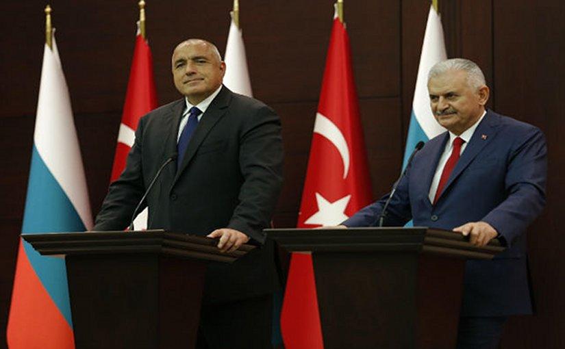 Bulgaria's Prime Minister Boyko Borissov and Turkey's PM Binali Yildirim in Ankara. Photo: Bulgarian government press service.