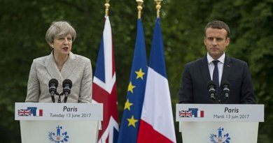 United Kingdom's Prime Minister Theresa May with France's President Emmanuel Macron. Photo Credit: UK Prime Minister's Office.