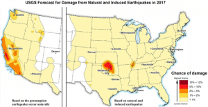 Forecast for Earthquake damage. Source: U.S. Geological Survey, EIA