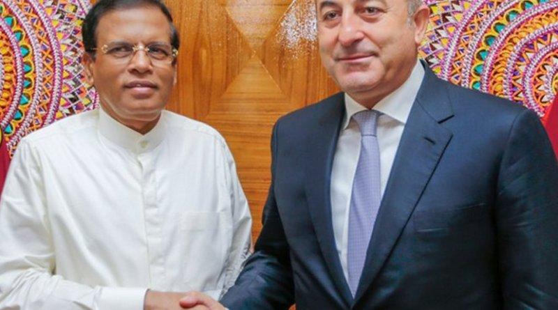 Sri Lanka President Maithripala Sirisena and Turkey's Foreign Minister Mevlüt Çavuşoğlu. Credit: Sri Lanka Government