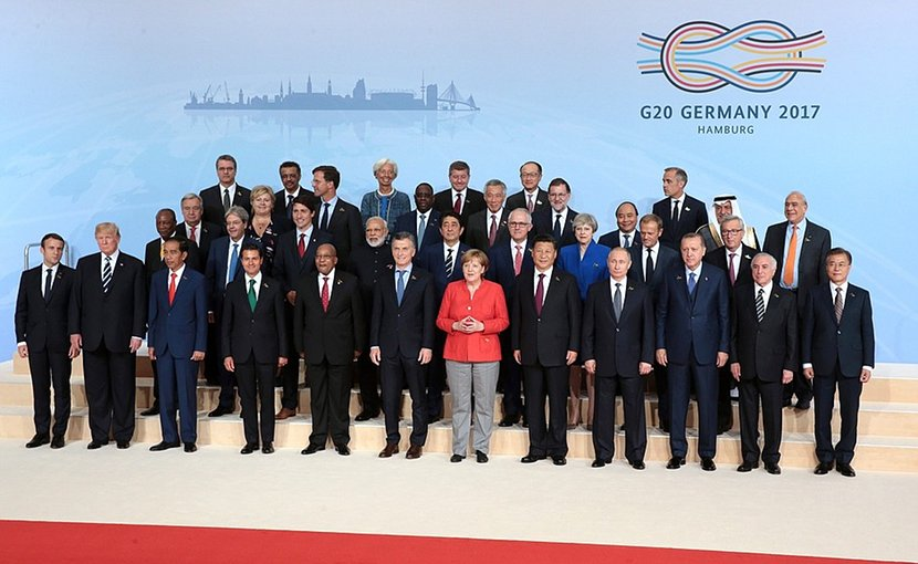G20 Summit participants in Hamburg, Germany 2017. Photo Credit: Kremlin.ru