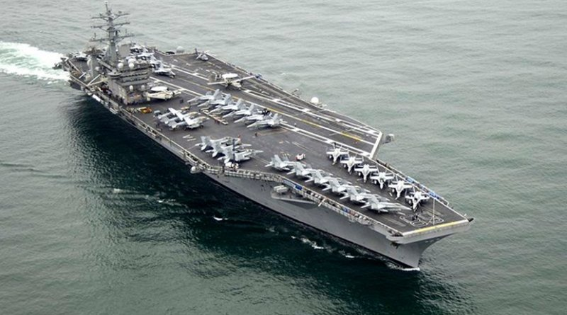 File photo of The aircraft carrier USS Nimitz. Photo: United States Navy, Wikipedia Commons.