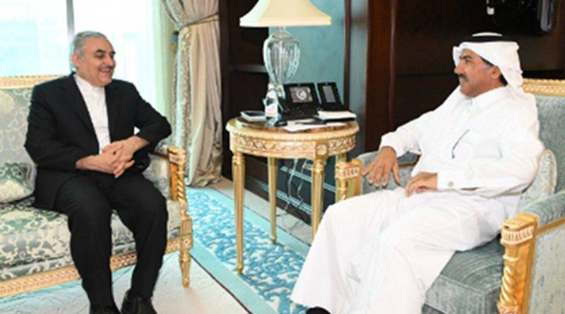 Foreign Ministry Secretary General Dr. Ahmed bin Hassan Al Hammadi meets with HE Iranian Ambassador to Qatar Mohammad Ali Sobhani. Photo Credit: Qatar Foreign Ministry.