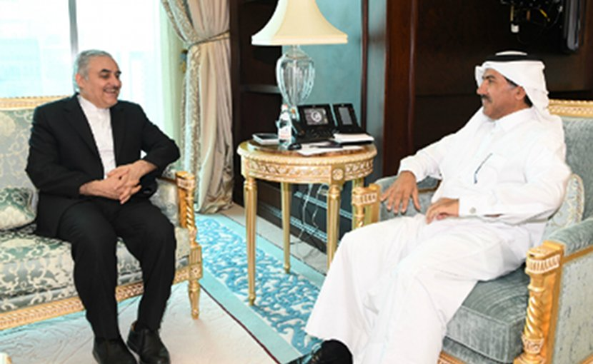 Foreign Ministry Secretary General Dr. Ahmed bin Hassan Al Hammadi meets with HE Iranian Ambassador to Qatar Mohammad Ali Sobhani. Photo Credit: Qatar Foreign Ministry.