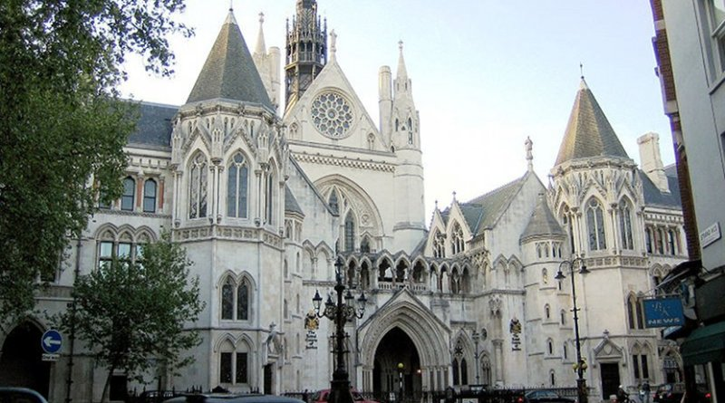 The Royal Courts of Justice building on the Strand in central London, United Kingdom. Photo by Anthony M., Wikipedia Commons.