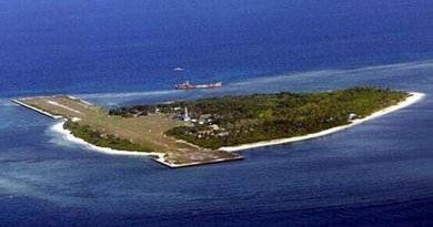 Disputed Pag-asa (Thitu) Island by China and the Philippines in Spratly Islands.