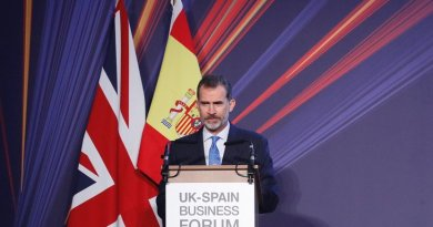 Spain's King Felipe VI speaking at the UK-Spain Business Forum. Photo Credit: Spain's Casa Real.