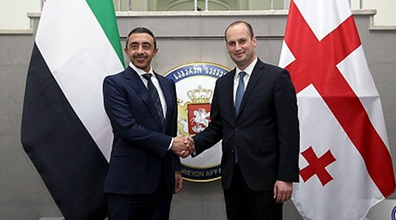 Sheikh Abdullah bin Zayed and Georgian Foreign Minister Mikheil Janelidze, July 17, 2017. Photo: MFA Georgia