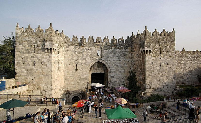 Damascus Gate, Jerusalem. Photo by Berthold Werner, Wikipedia Commons.