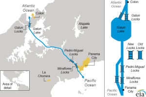 Figure 8. Panama Canal and Lock System  Source: U.S. Energy Information Administration