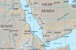Figure 6. Map of Bab el-Mandeb  Source: CIA Factbook