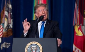 President Donald J. Trump addresses the nation on the South Asia strategy during a press conference at Conmy Hall on Fort Myer, Virginia, Aug. 21, 2017. (Photo Credit: DOD photo by Sgt. Amber Smith)