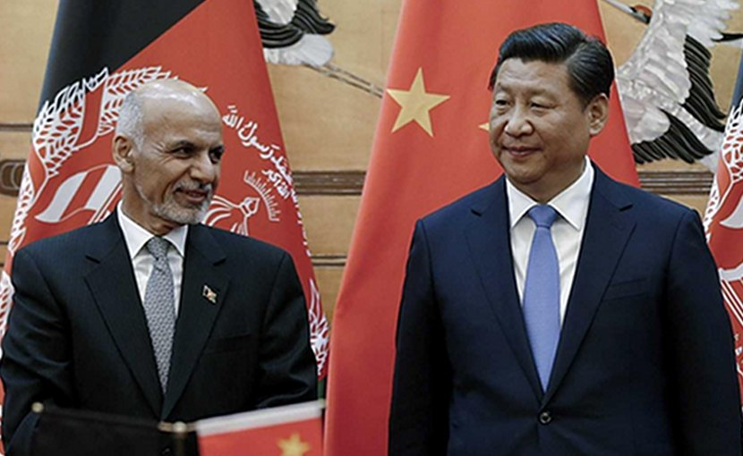 Afghanistan's President Ashraf Ghani and President of China Xi Jin-ping. Photo Credit: China's Ministry of Foreign Affairs.
