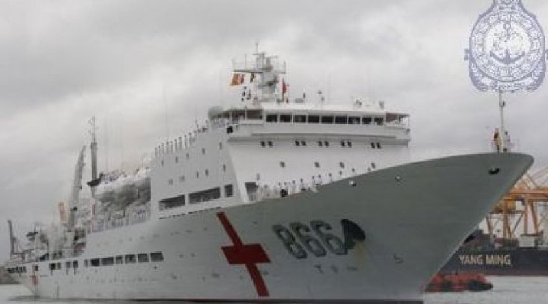 Hospital Ship of the People's Liberation Army Navy of China 'Hepingfangzhou' commonly called the Ark Peace. Source: Sri Lanka Navy.
