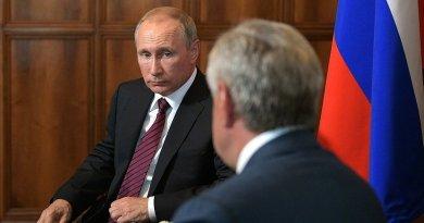 Russia's President Vladimir Putin meeting with President of Abkhazia Raul Khadjimba. Credit: Kremlin.ru