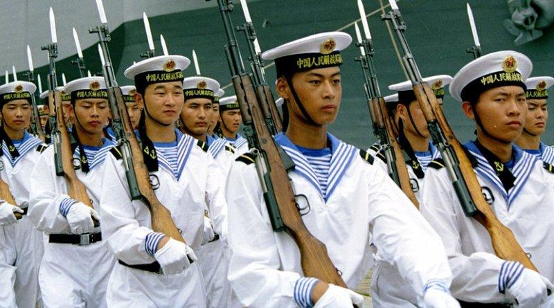 China PLAN sailors. Photo by iang, Wikipedia Commons.