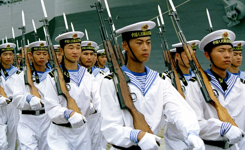 China PLAN sailors. Photo by iang, Wikipedia Commons.