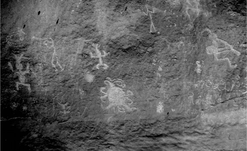 A petroglyph of what may be a total solar eclipse in the year 1097 as recorded by the Chaco Canyon, New Mexico Pueblo people. Credit University of colorado