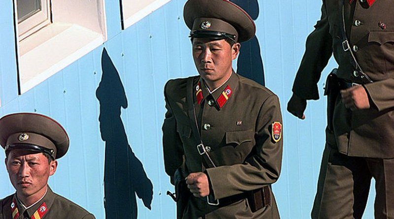 North Korea soldiers. Photo by TSGT James Mossman, U.S. Air Force, Wikipedia Commons.