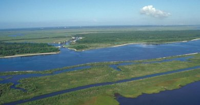 Mississippi River's Gulf Outlet. Credit: US Army Corps of Engineers