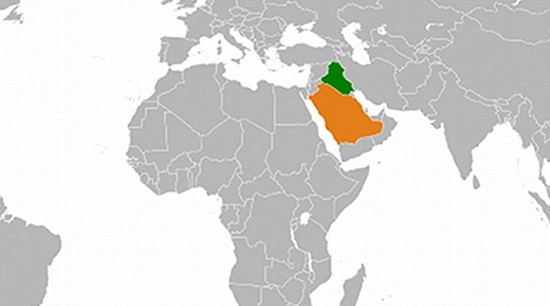 Locations of Iraq and Saudi Arabia.