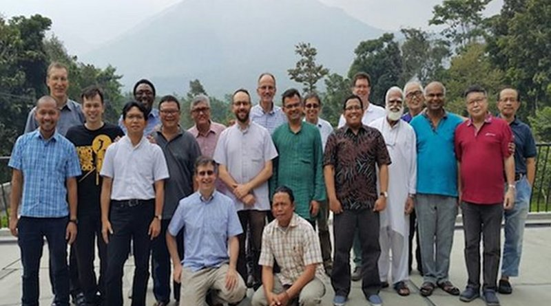 Jesuit priests at Tebuireng Islamic boarding school in East Java. (Photo supplied by Jesuit Father Ignatius Ismartono)