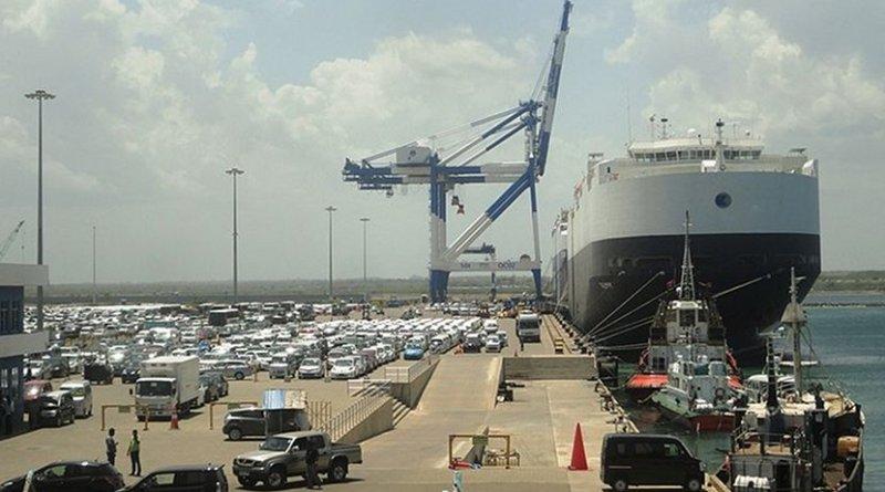 Sri Lanka's Hambantota Port. Photo by Dinesh De Alwis, Wikimedia Commons.