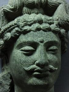 Head of Bodhisattava Maitreya, Schist, Gahdhara style, Late 2nd century A.D., L. D. Museum Ahmedabad. Photo by Vatsal Vekaria.
