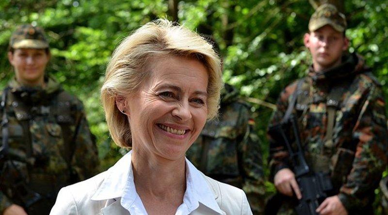 Germany's Ursula von der Leyen. Photo by Dirk Vorderstraße - Eigenes Werk, Wikipedia Commons.