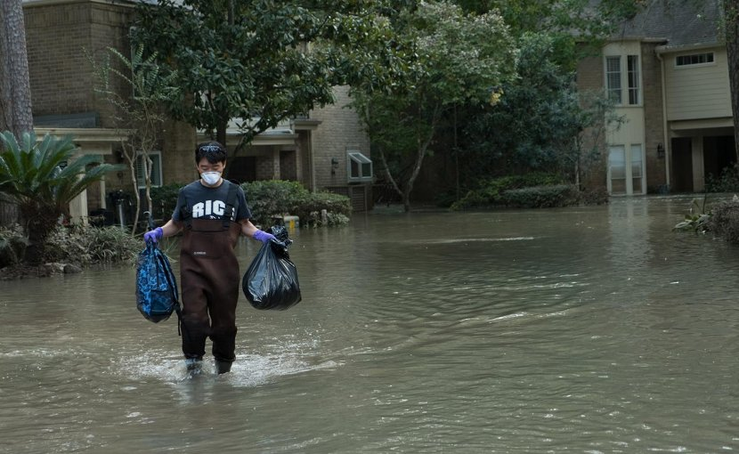 Hurricane Harvey caused some of the most catastrophic flooding in US history. A new study of flooding between 1999-2009 in several southeast Houston suburbs found that FEMA's 100-year flood plain maps failed to capture 75 percent of flood damages from five storms, none of which reached the threshold of a 100-year event. Credit: Jeff Fitlow/Rice University