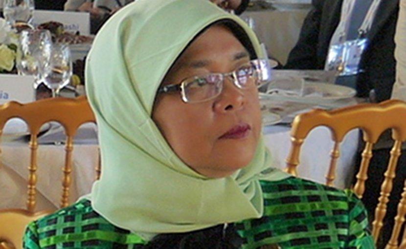 Singapore's Halimah Yacob. Photo e_chaya, Wikipedia Commons.