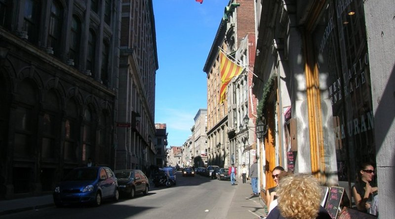 A street scene in Montreal, Canada.