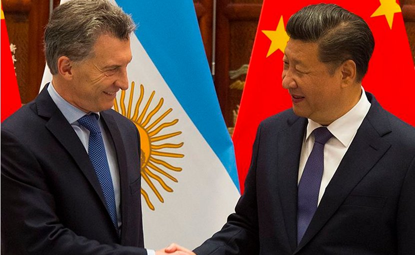 Argentine President Mauricio Macri and Chinese President Xi Jinping. Photo Casa Rosada (Argentina Presidency of the Nation), Wikipedia Commons.