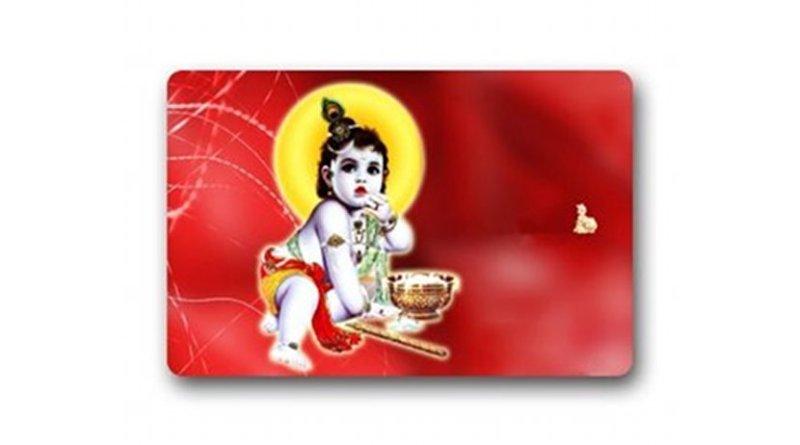 Baby Krishna doormat