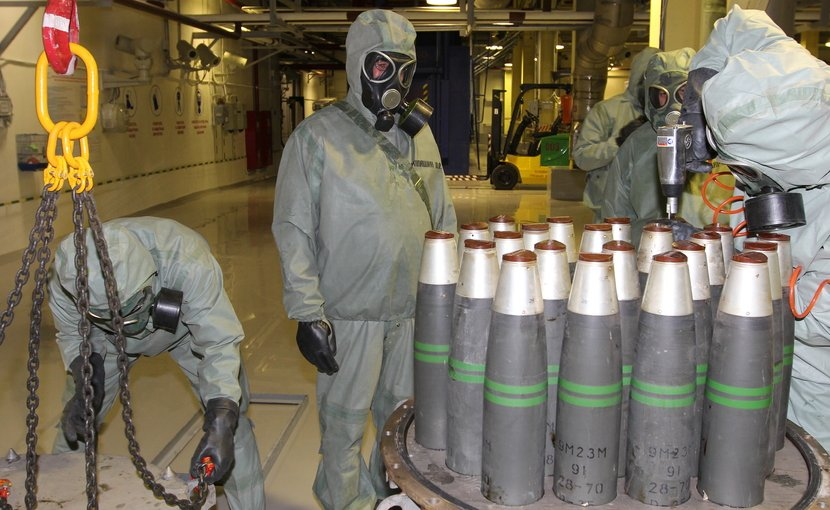 Chemical weapons elimination at the Kizner facility in Russia, 2017. Photo: Federal Department on safe storage and elimination of chemical weapons under the Ministry of Industry and Trade of the Russian Federation, http://www.химразоружение.рф/