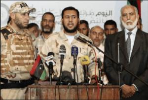 Al-Harati and Abdel Hakim Belhadj (centre)