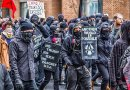 File photo of Antifa protestors. Photo by Mobilus In Mobili, Wikimedia Commons.
