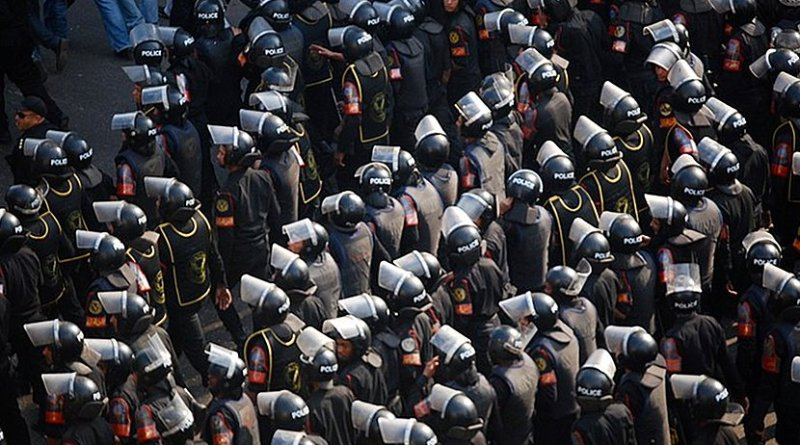 Egyptian Central Security Forces. Photo by M. Soli, Wikimedia Commons.